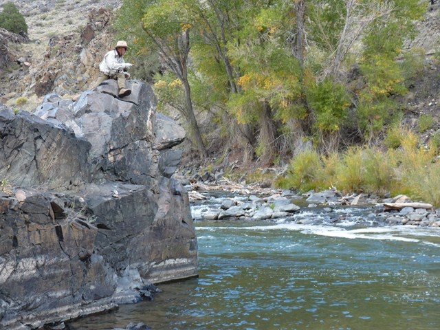 Oneof phil 39 s favourite fishing spots on the arkansas for Fly fishing spots near me