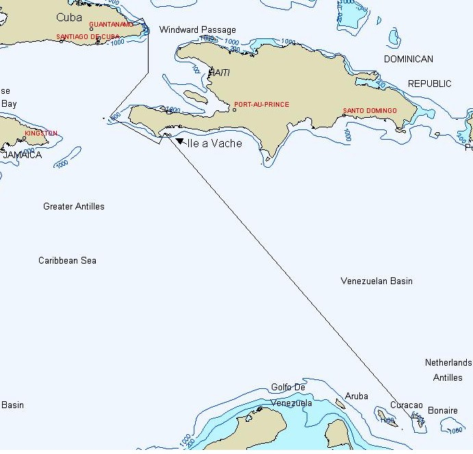 Passage from Bonaire to Cuba